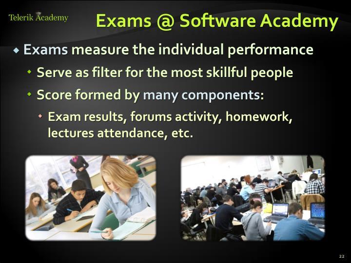 Exams @ Software Academy