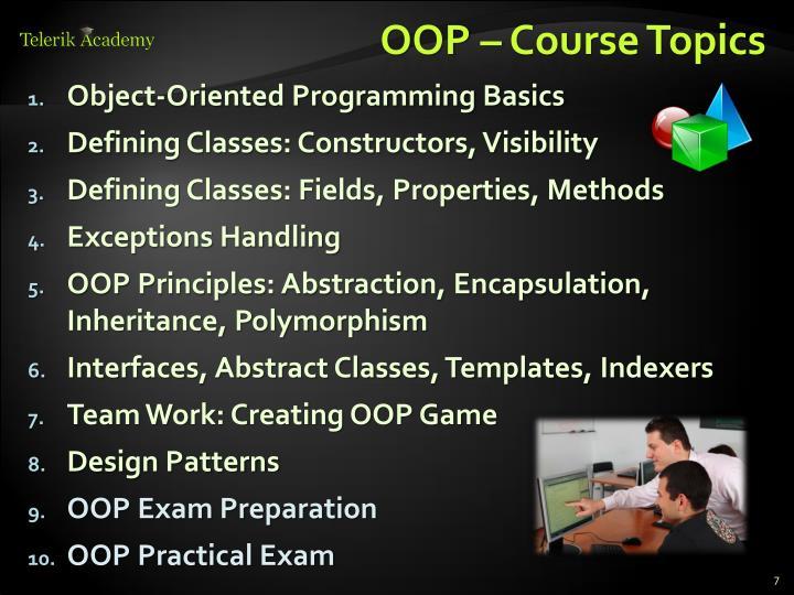 OOP – Course Topics