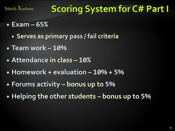 Scoring System for C