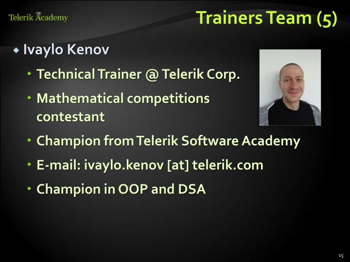 Trainers Team