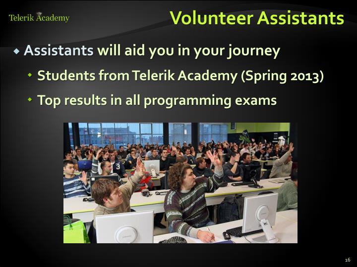 Volunteer Assistants