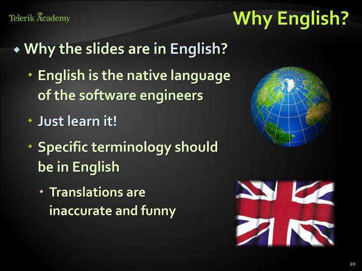 Why English?