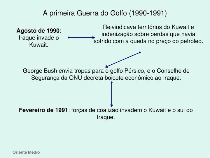 A primeira Guerra do Golfo (1990-1991)