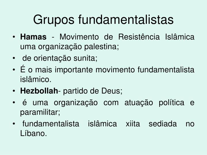 Grupos fundamentalistas