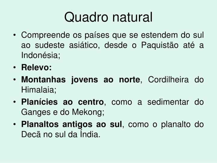 Quadro natural