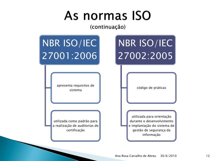 As normas ISO