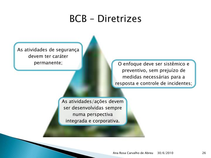 BCB – Diretrizes