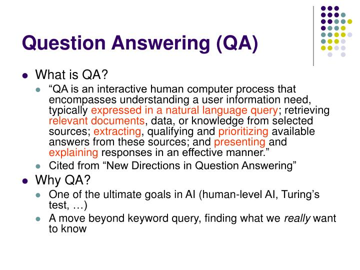 Question answering qa