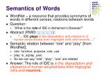 semantics of words