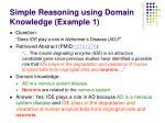 simple reasoning using domain knowledge example 1