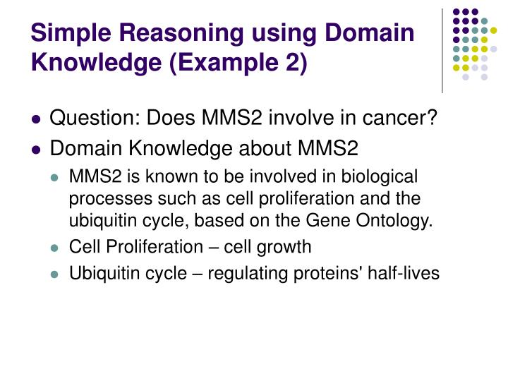 Simple Reasoning using Domain Knowledge (Example 2)