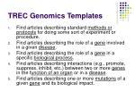 trec genomics templates