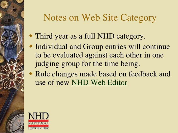 Notes on Web Site Category