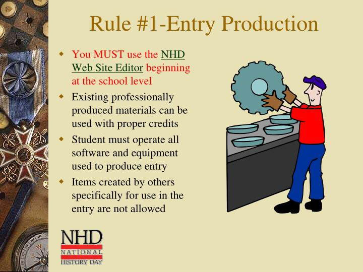 Rule #1-Entry Production