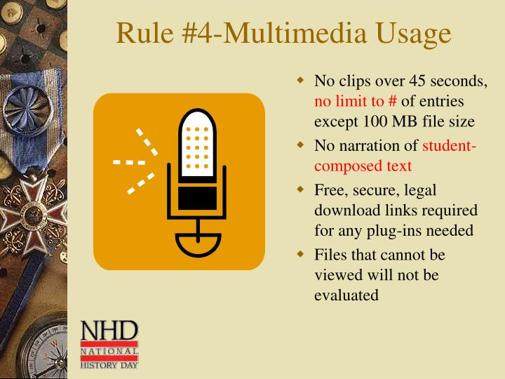 Rule #4-Multimedia Usage