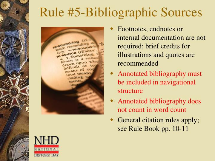 Rule #5-Bibliographic Sources
