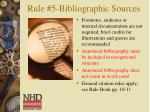 rule 5 bibliographic sources