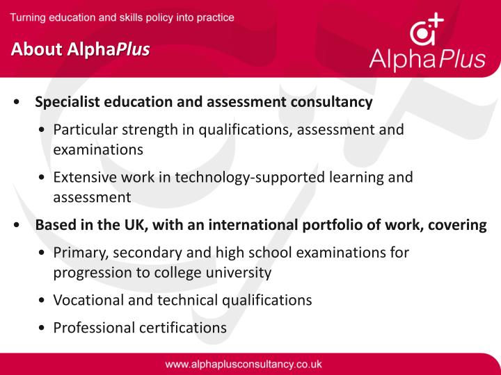 About Alpha