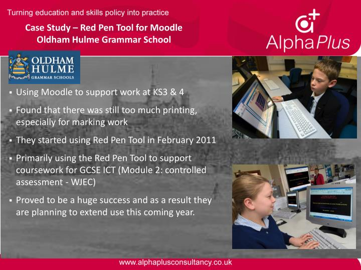 Case Study – Red Pen Tool for Moodle