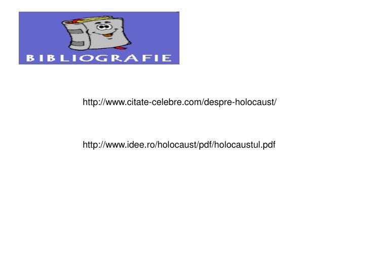 http://www.citate-celebre.com/despre-holocaust/