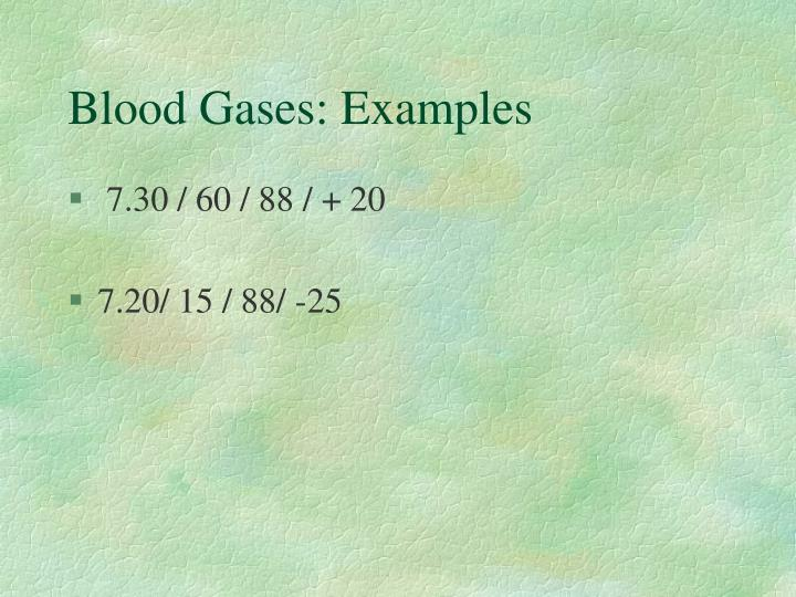 Blood Gases: Examples
