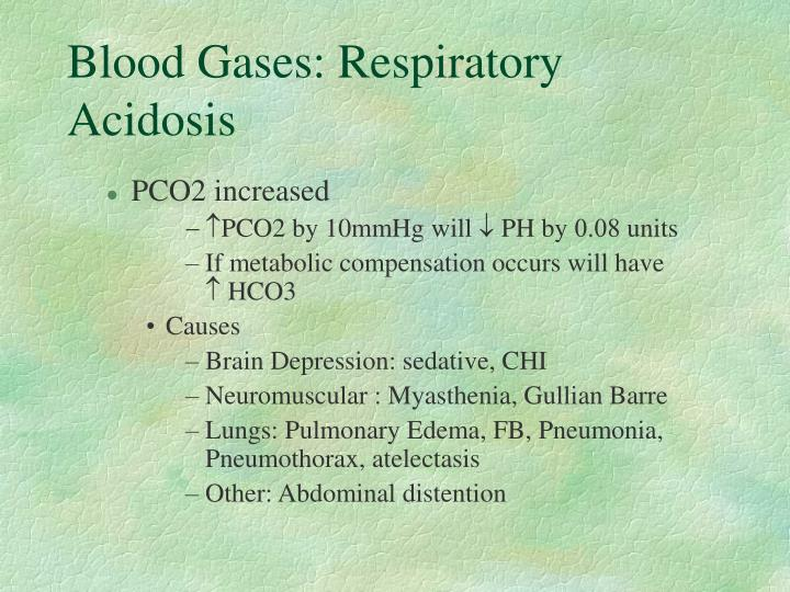 Blood Gases: Respiratory Acidosis