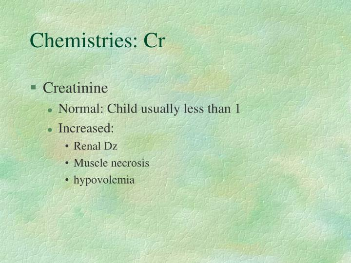 Chemistries: Cr