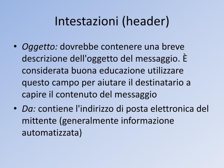 Intestazioni (