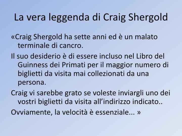 La vera leggenda di Craig