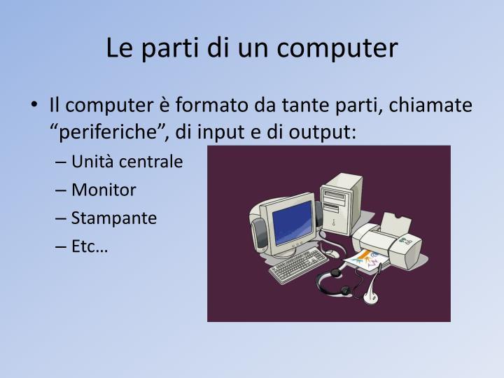 Le parti di un computer