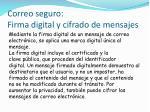 correo seguro firma digital y cifrado de mensajes