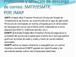 protocolos y servicios de descarga de correo smtp esmtp pop imap