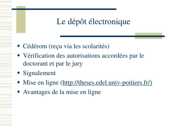 Le dépôt électronique