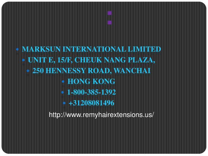 MARKSUN INTERNATIONAL LIMITED