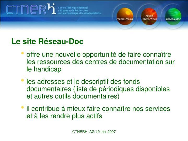Le site Réseau-Doc