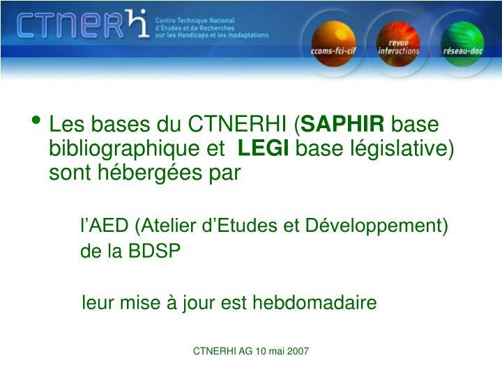 Les bases du CTNERHI (