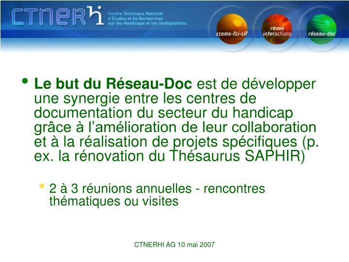 Le but du Réseau-Doc