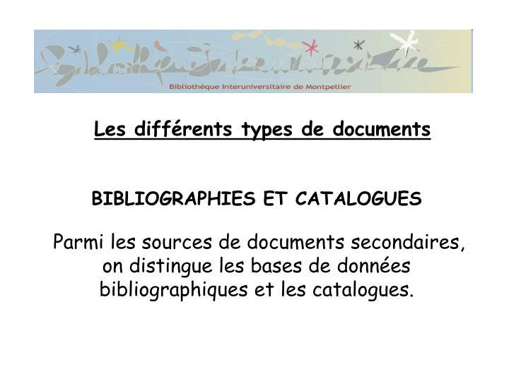 BIBLIOGRAPHIES ET CATALOGUES