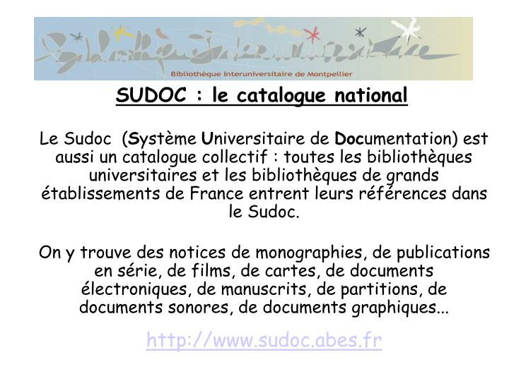 Le Sudoc  (