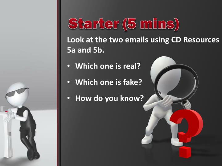 Starter (5 mins)