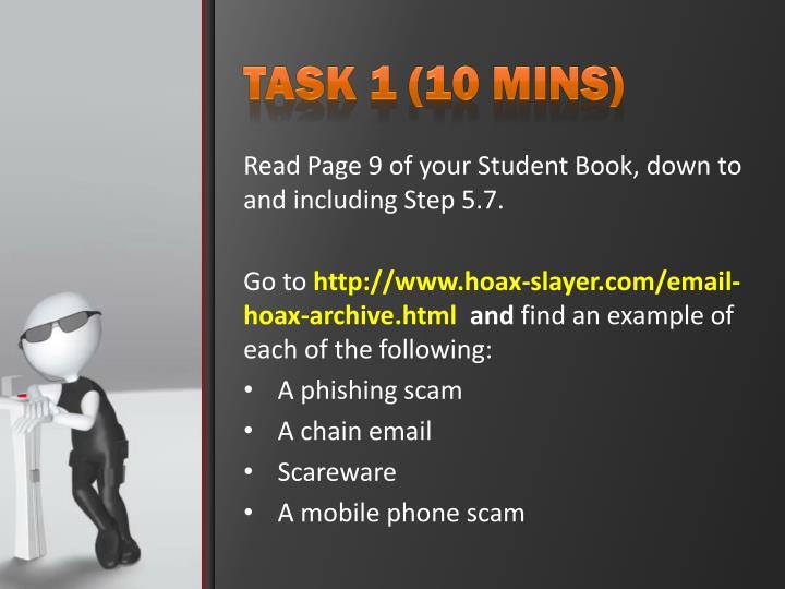 Task 1 (10 mins)