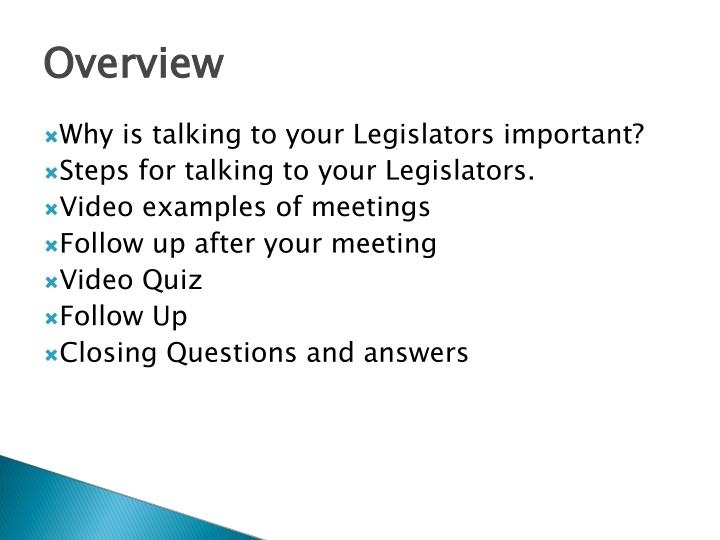 Why is talking to your Legislators important?