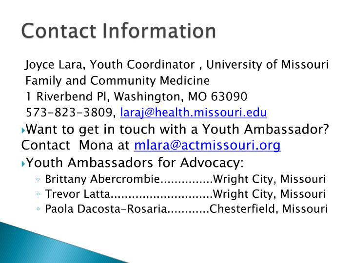 Joyce Lara, Youth Coordinator , University of Missouri