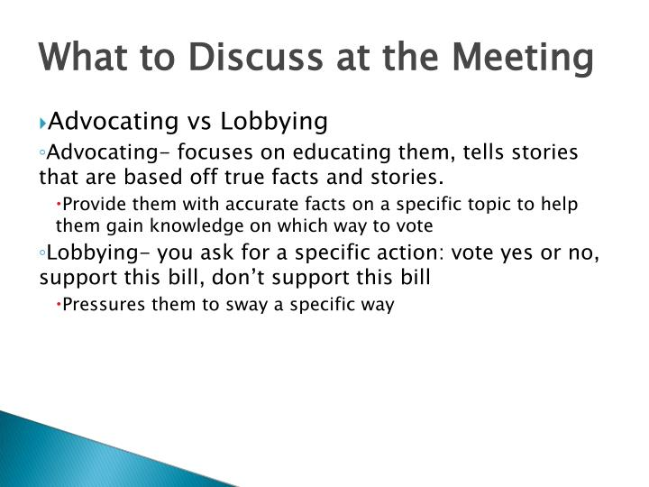What to Discuss at the Meeting