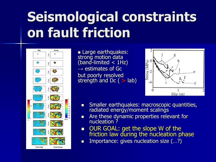 Seismological constraints on fault friction