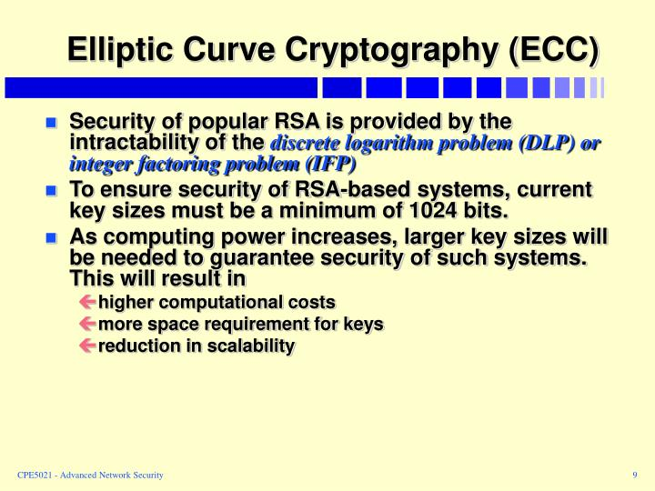 Elliptic Curve Cryptography (ECC)