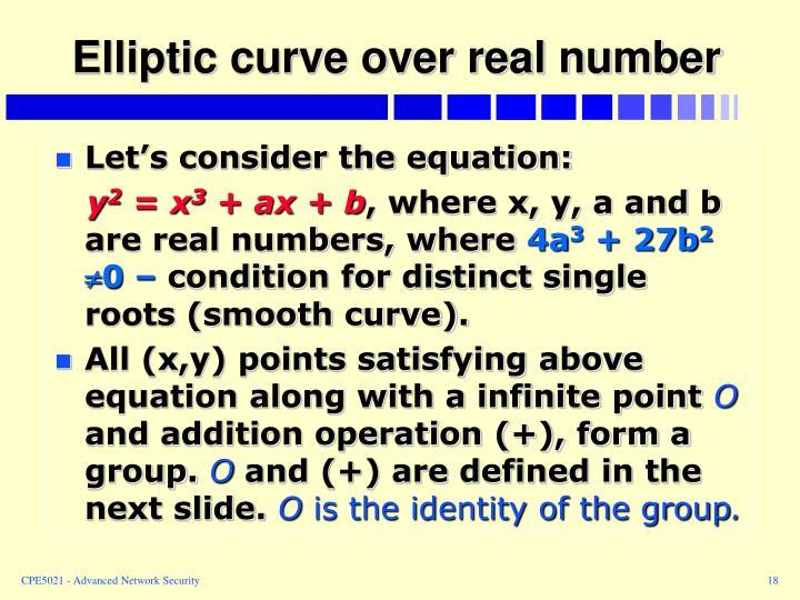 Elliptic curve over real number