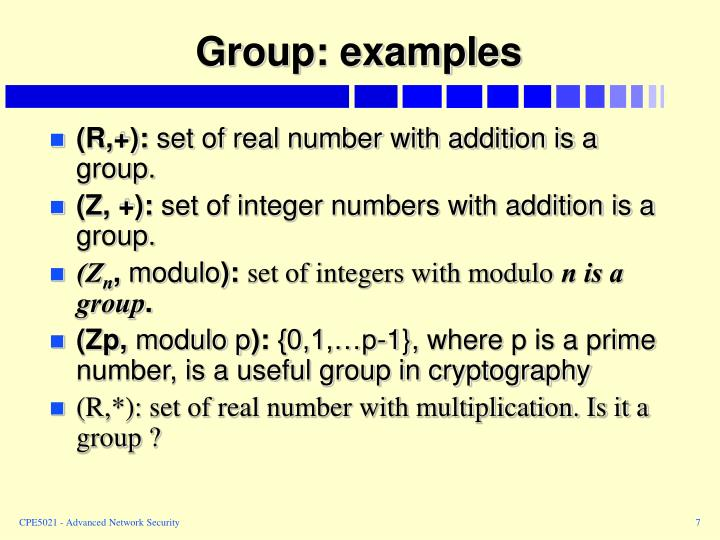 Group: examples