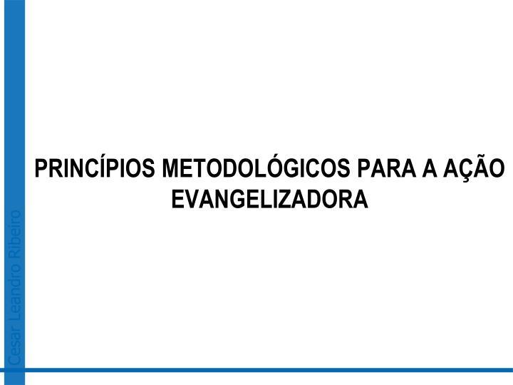 PRINCÍPIOS METODOLÓGICOS PARA A AÇÃO EVANGELIZADORA
