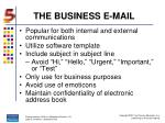 the business e mail